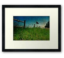 On The Breeze Framed Print