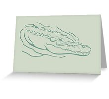 Mother & Baby: Crocodile Greeting Card