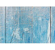 Blue Weathered wooden background Photographic Print