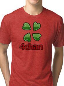 4chan logo for anon's Tri-blend T-Shirt