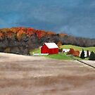 Red Barn and the Last Vestiges of  Fall by James Lindsay