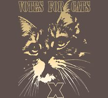 Votes for Cats T-Shirt Womens Fitted T-Shirt