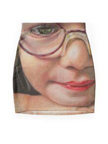 Glasses Mini Skirt