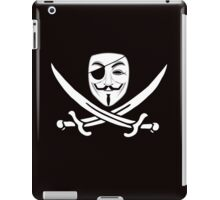 Anonymous mask skull and crossbones pirate iPad Case/Skin