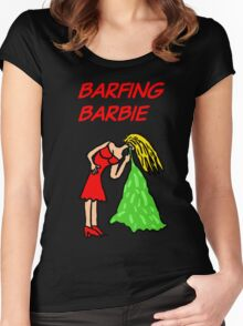 Barfing Barbie  Women's Fitted Scoop T-Shirt