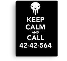 Keep calm and call 42-42-564 Call the Shinigami Canvas Print