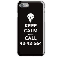 Keep calm and call 42-42-564 Call the Shinigami iPhone Case/Skin
