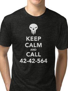 Keep calm and call 42-42-564 Call the Shinigami Tri-blend T-Shirt