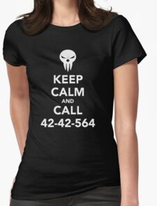 Keep calm and call 42-42-564 Call the Shinigami Womens Fitted T-Shirt