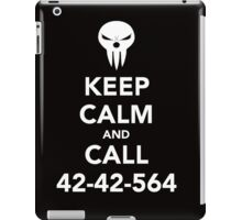 Keep calm and call 42-42-564 Call the Shinigami iPad Case/Skin