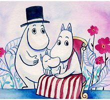 Moomin Family by vivianz