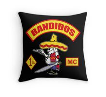 Bandidos Motorcycle Club Throw Pillow