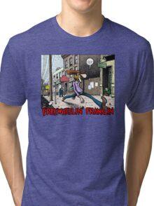 Fabulous Furry Freak Brothers Freewheelin Franklin Tri-blend T-Shirt
