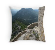 Queribus Castle, Cathar Country, France Throw Pillow