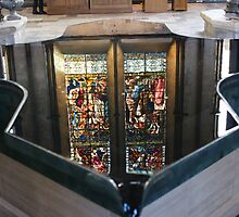 Font in Salisbury Cathedral by MendipBlue