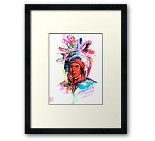 Native American Headdress Framed Print