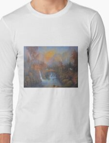 Farewell To Rivendell (The Passing Of The Elves ) Long Sleeve T-Shirt