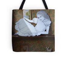 Alice in the white Rabbit's House Tote Bag