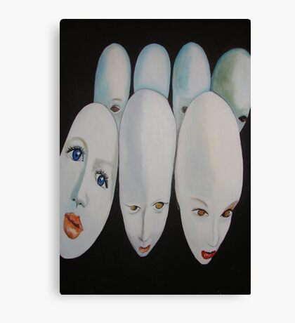 Doll Heads Canvas Print