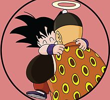 Happy Goku Hugs Grandpa Gohan :3 by LordExo