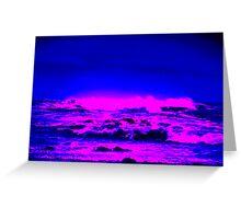 Ocean Waves On The Oregon Coast Greeting Card