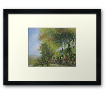 A Long Expected Party (Waiting For The Post) Framed Print