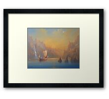The Journey To The  Undying Lands Framed Print