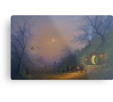 The Pumpkin Seller ( A Hobbits Halloween ). Metal Print