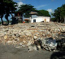 Old church demolition by Richard Jones by Friends  of Suai