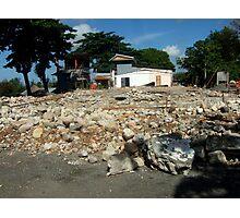 Old church demolition by Richard Jones Photographic Print
