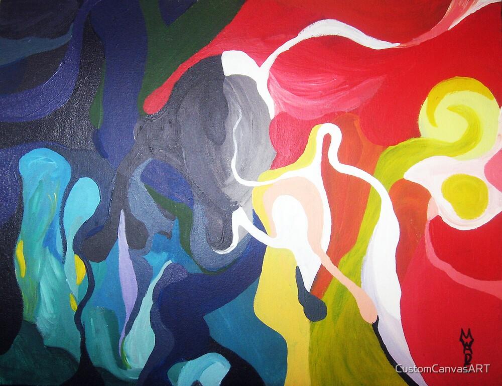 INNER STRUGGLES OF SELF by CustomCanvasART