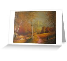 The Golden Woods. Greeting Card