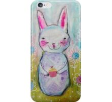 Whimsical Bunny Rabbit iPhone Case/Skin