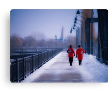 Going For A Skate - Montreal, Quebec Canada Canvas Print