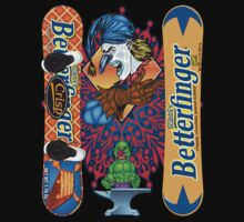 Evil Clown T Shirt Butterfinger Snowboard by bear77