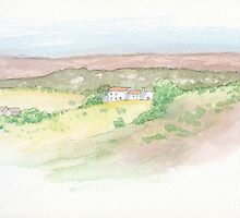 Portugeuse landscape and villa by Carl Conway