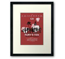 Fury's Ten Framed Print