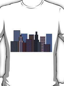 city skyline sunset T-Shirt