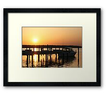 Dock of Sunshine Framed Print