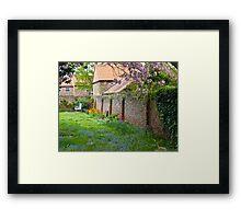 A peaceful corner Framed Print