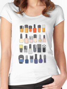 My nail polish collection Women's Fitted Scoop T-Shirt