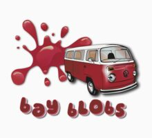 Volkswagen Kombi Tee shirt - Bay Blobs Red by KombiNation