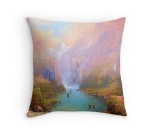 The Great River Throw Pillow