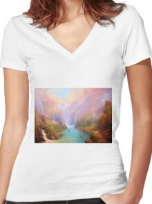 The Great River Women's Fitted V-Neck T-Shirt
