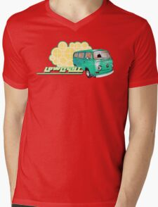 Volkswagen Kombi Tee shirt - Retro Lowlight Kombi Mens V-Neck T-Shirt