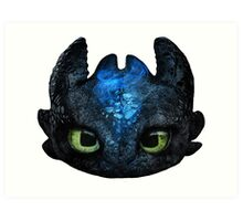 Toothless Pencil Drawing Art Print