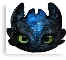 Toothless Pencil Drawing Canvas Print