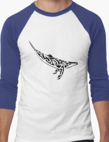 Tribal Whale Men's Baseball ¾ T-Shirt