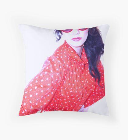 Red Diva Throw Pillow