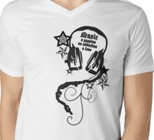 For Music Lovers Mens V-Neck T-Shirt